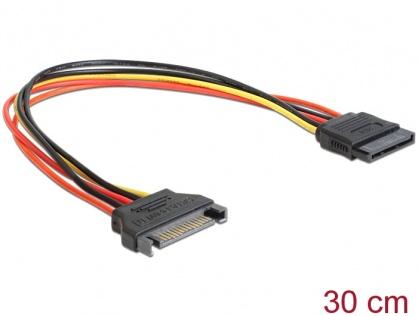 Cablu prelungitor alimentare SATA 15 pini, 30cm, Delock 60131