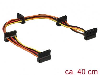 Cablu de alimentare SATA la 4 x SATA 15 pini 40cm, Delock 60141