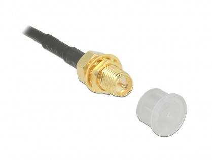 Protectie impotriva prafului pentru SMA plug set 10 buc transparente, Delock 60163