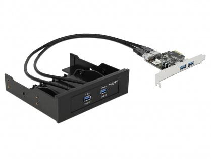Front Panel 2 x USB 3.0 + PCI Express Card 2 x USB 3.0, Delock 61893