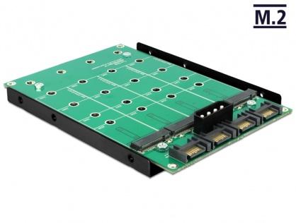 Convertor 4 x SATA 7 Pini la 4 x M.2 NGFF, Delock 62554