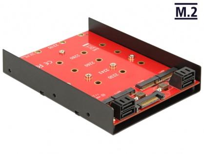 Convertor 4 x SATA 7 pini la 4 x M.2 NGFF, Delock 62574