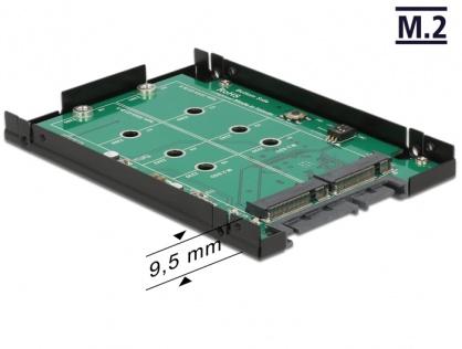"Convertor SATA 22 Pini la 2 x M.2 NGFF cu RAID, frame 2.5"", Delock 62590"