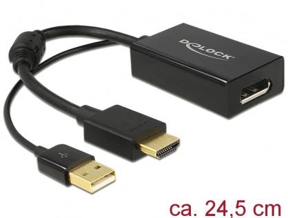 Adaptor HDMI la Displayport 1.2 4K Negru T-M, Delock 62667