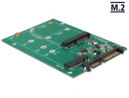 Convertor SATA 22 pini la 1 x M.2 NGFF + 1 x mSATA, Delock 62670