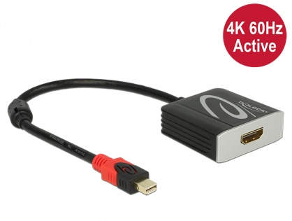 Adaptor mini Displayport 1.2 la HDMI T-M 4K 60 Hz Activ, Delock 62735