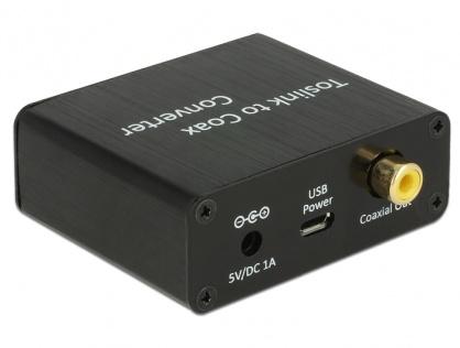 Convertor Digital Audio TOSLINK la Coaxial, Delock 62789