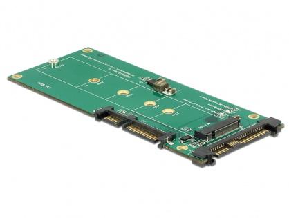 Convertor U.2 SFF-8639 NVMe / SATA 22 pini la 1 x M.2 Key M, Delock 62864