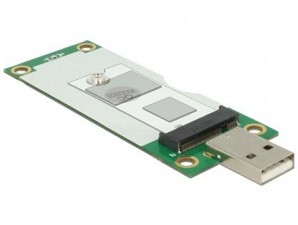 Adaptor USB tip A la M.2 Key B cu slot SIM, Delock 63446