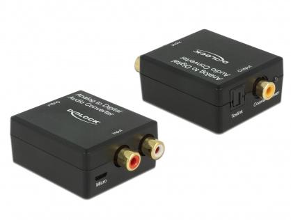 Convertor audio analog RCA la digital S/PDIF HD, Delock 63468