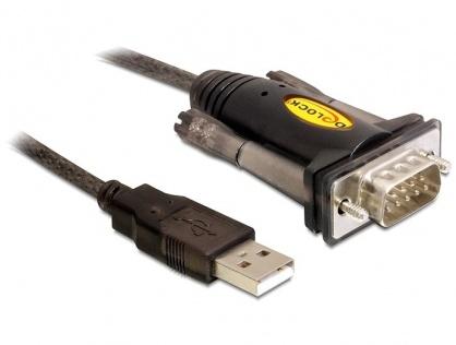 Cablu USB la Serial DB9 RS232 1.5m, Delock 61856