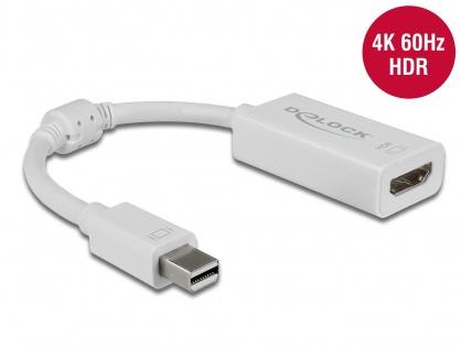 Adaptor Mini DisplayPort 1.4 la HDMI 4K 60Hz cu HDR Pasiv T-M Alb, Delock 63935