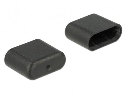 Protectie impotriva prafului pentru conector USB-C tata set 10 buc, Delock 64008