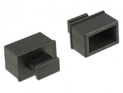 Protectie impotriva prafului pentru slot SFP cu prindere Negru set 10 buc, Delock 64021