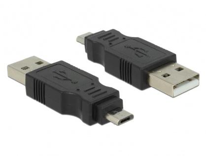 Adaptor USB 2.0 la micro USB-B T-T, Delock 65036