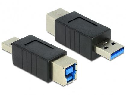Adaptor USB 3.0 tip B la tip A M-T, Delock 65218