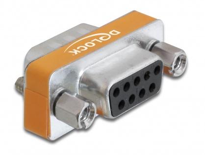 Adaptor Null Modem D-Sub 9 pini T - M, Delock 65255