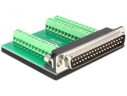 Adaptor D-Sub 37 pini T la bloc terminal 39 pini, Delock 65320