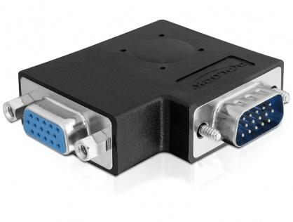 Adaptor VGA T-M unghi 90 grade, Delock 65345