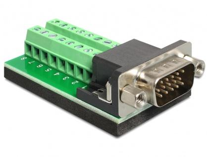 Adaptor VGA 15 pini T la Bloc Terminal 16pini, Delock 65424