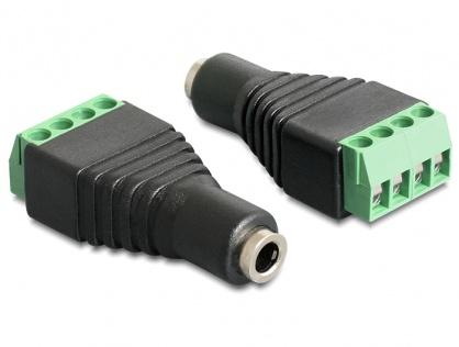 Adaptor Stereo jack 3.5 mm mama la bloc terminal 4 pini, Delock 65457
