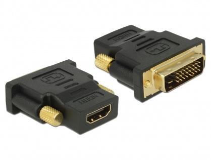 Adaptor DVI-D Dual Link 24+1 pini la HDMI T-M, Delock 65466