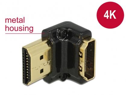 Adaptor HDMI-A T-M unghi 90 grade jos 4K carcasa metalica, Delock 65662