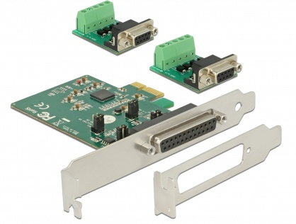 PCI Express la 2 x Serial RS-422/485 cu protectie ESD, Delock 65841