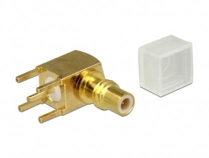 Adaptor SMC jack unghi 90 grade PCB, Delock 65851