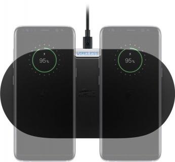 Pad pentru incarcare wireless 2 dispozitive 10W Negru, Goobay 66308