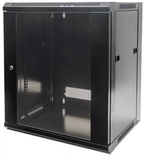 """Cabinet 19"""" fixare pe perete Flatpack 12U Black, Intellinet 711869"""
