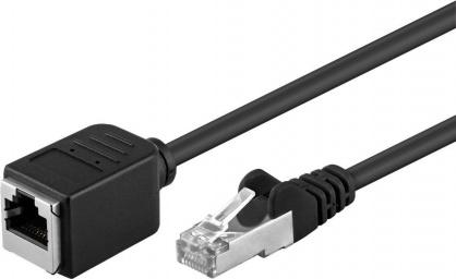 Cablu prelungitor FTP cat 5e RJ45 T-M 1.5m Negru, 73387
