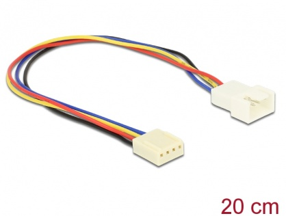 Cablu prelungitor ventilator PWM 4 pini T-M 0.20m, Delock 82429