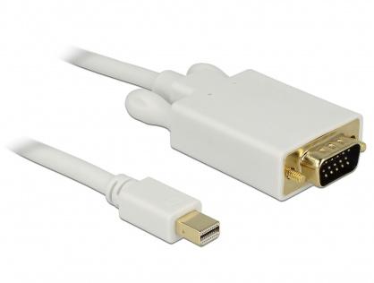 Cablu mini DisplayPort la VGA T-T 1m Alb, Delock 82639