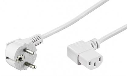 Cablu alimentare PC unghi 90 grade 5m Alb, Goobay 93120
