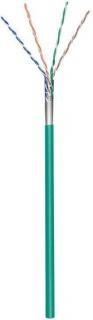 Rola cablu de retea cat.5e F/UTP CCA Verde 100m, Goobay 93267