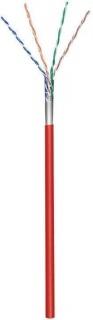 Rola cablu de retea cat.5e F/UTP CCA Rosu 100m, Goobay 93269