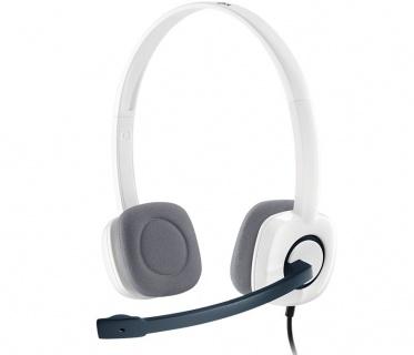 Casti Logitech H150 cu microfon, Cloud White 981-000350