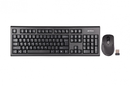Kit tastatura + mouse Wireless Padless,  A4Tech 7100N