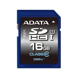 Card de memorie SDHC 16GB clasa 10, ADATA ASDH16GUICL10-R
