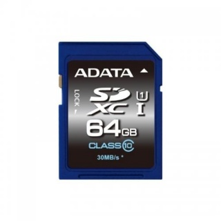 Card de memorie SDXC 64GB clasa 10, ADATA ASDX64GUICL10-R