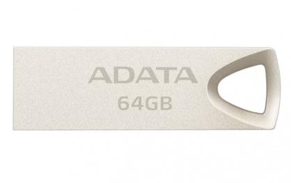 Stick USB 2.0 64GB aliaj zinc, rezistent la apa/praf/socuri Gold Crom, ADATA