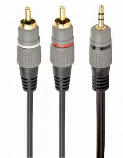 Cablu audio Premium jack 3.5mm la 2 x RCA T-T 1.5m, Gembird CCA-352-1.5M