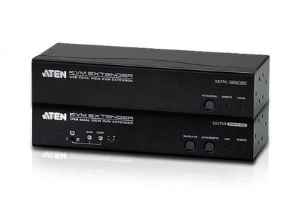 Extender KVM Cat 5 USB VGA Dual View 150m, ATEN CE774