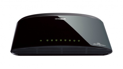 Switch Desktop 8 porturi 10/100 Mbps, D-LINK DES-1008D
