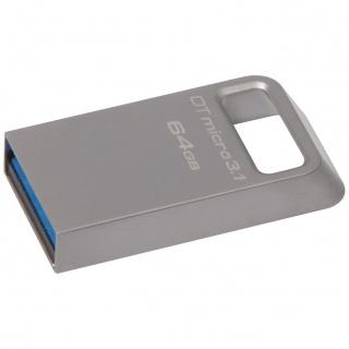 Stick DataTraveler Micro 64GB USB 3.1/3.0, Metal, Kingston