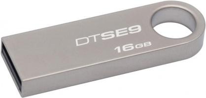 Stick USB 2.0 DataTraveler SE9 16GB Capless Argintiu, Kingston