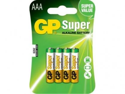Blister 4 baterii AAA LR3 Alkaline, GP BATTERIES