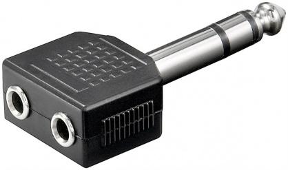 Adaptor stereo jack 6.3mm la 2 x stereo jack 3.5mm T-M, KJR-03