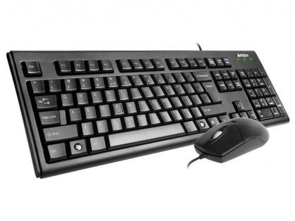 WIRED KIT A4TECH (KM-720 + OP-620D-B), USB, black, KM-72620D-USB